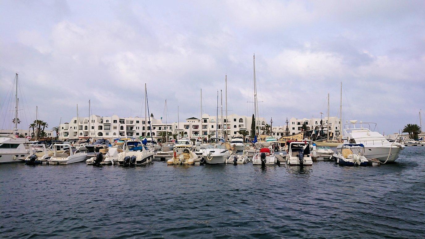 チュニジアのポートエルカンタウィのマリーナ付近を散策2