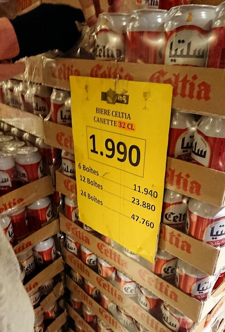 チュニジアのポートエルカンタウィのマリーナ付近のスーパーマーケットにてお買い物7