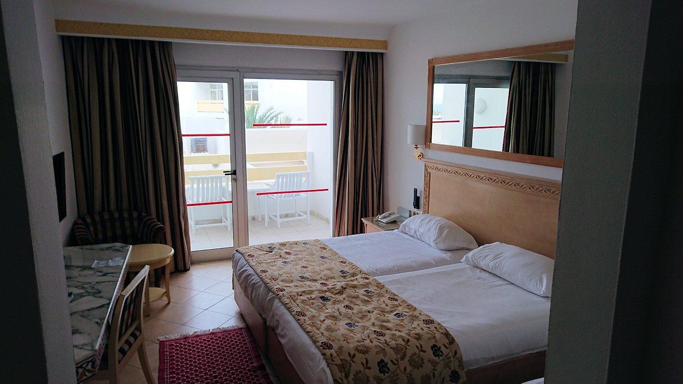 チュニジアのスースの街にある「マルハバ ロイヤル サレム」ホテルの部屋の様子2