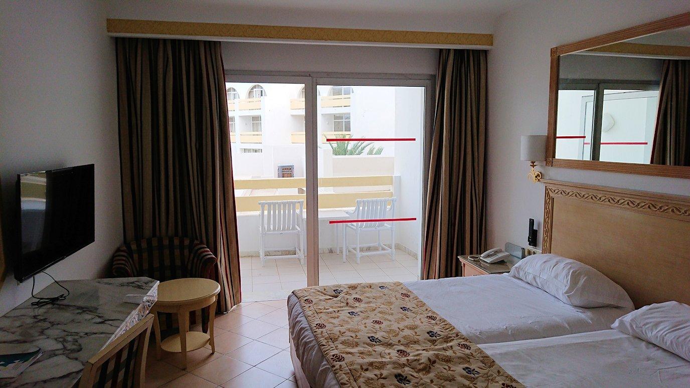 チュニジアのスースの街にある「マルハバ ロイヤル サレム」ホテルの部屋の様子4