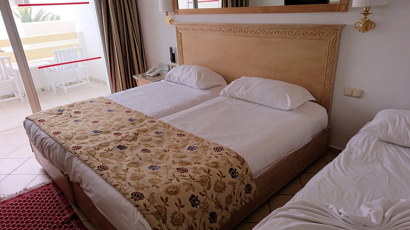 チュニジアのスースの街にある「マルハバ ロイヤル サレム」ホテルの部屋の様子5