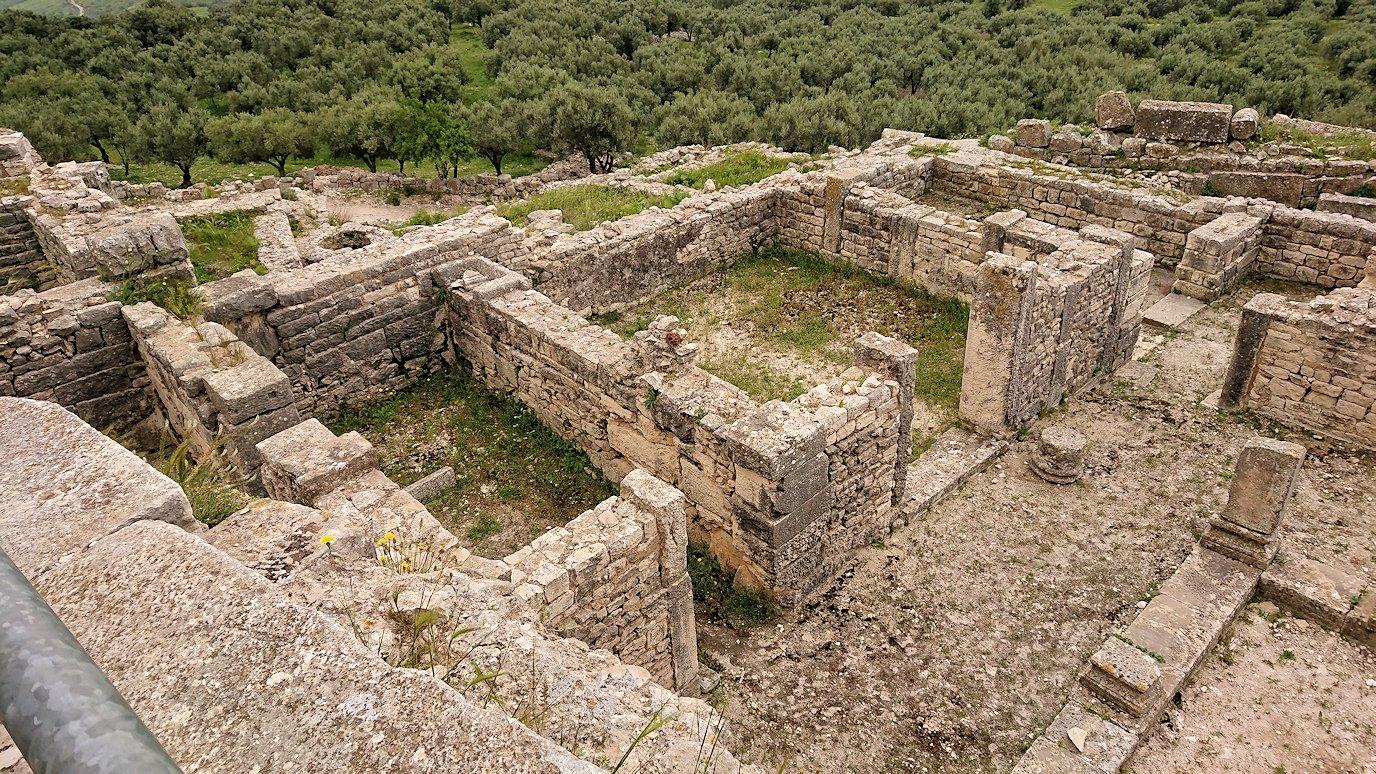 チュニジアのドゥッガ遺跡で住居跡を見学7