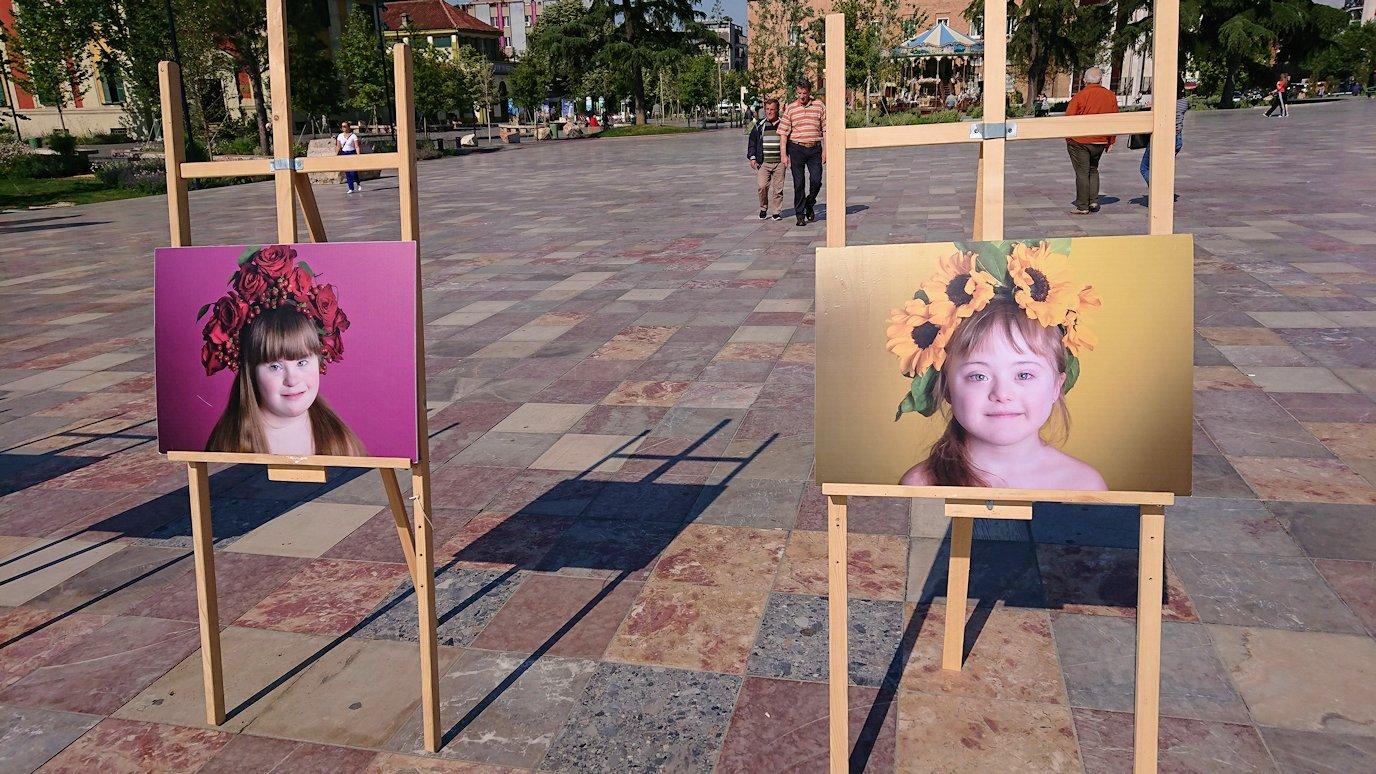 アルバニアで首都ティラナのスカンデルベグ広場ですごろくを発見6