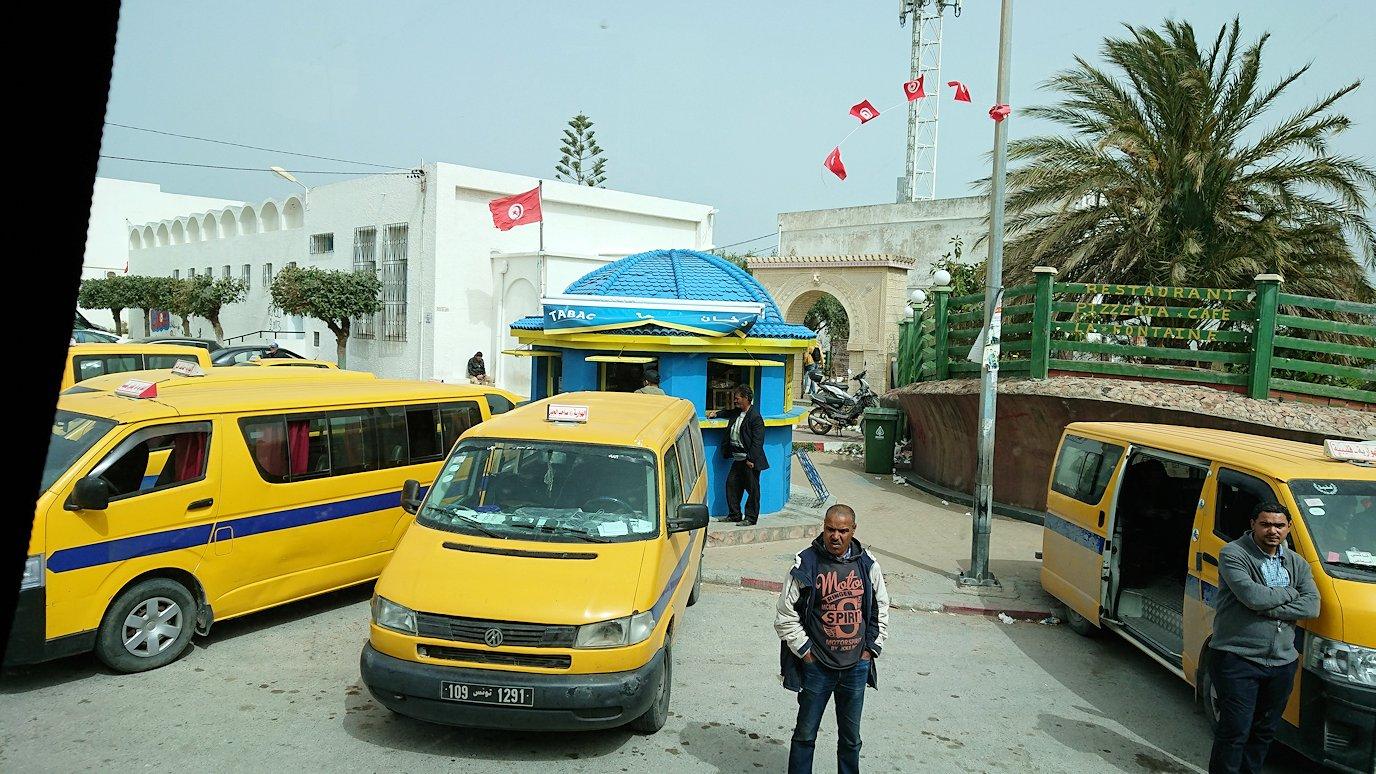 チュニジア:ボン岬からケルクアン遺跡に移動