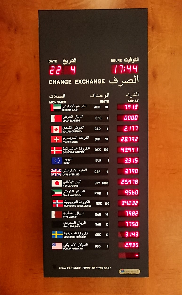 チュニジアのチュニスにあるエルムラディ・アフリカ・ホテルにチェックイン1