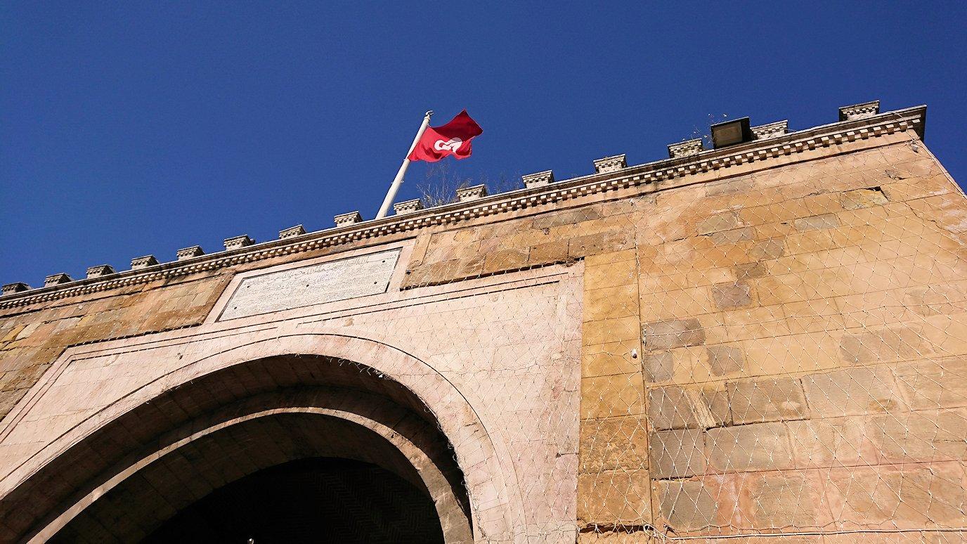 チュニジア:チュニスのメディナの入口にて3