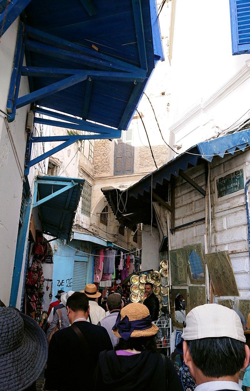 チュニジア:チュニスのメディナに入っていく1
