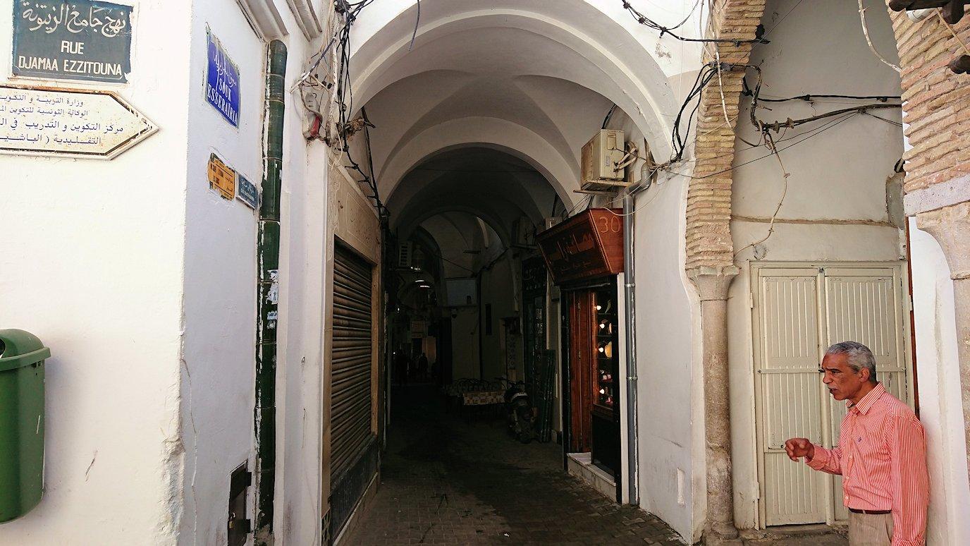 チュニジア:チュニスのメディナのメイン通りを進みながらグランドモスク近くの猫ちゃん5