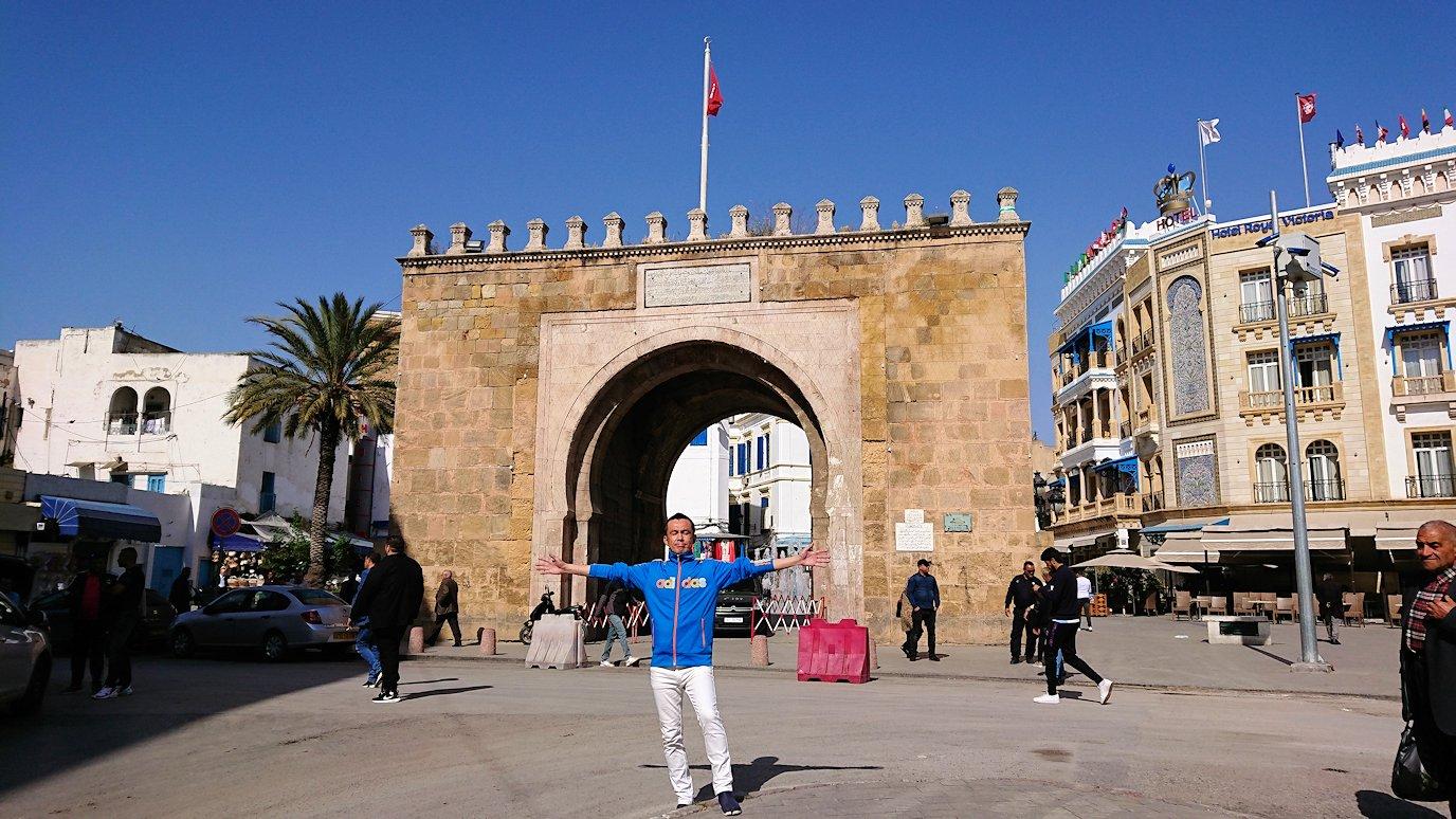 チュニジア:チュニスのメディナの観光を終了しホテルに戻る6