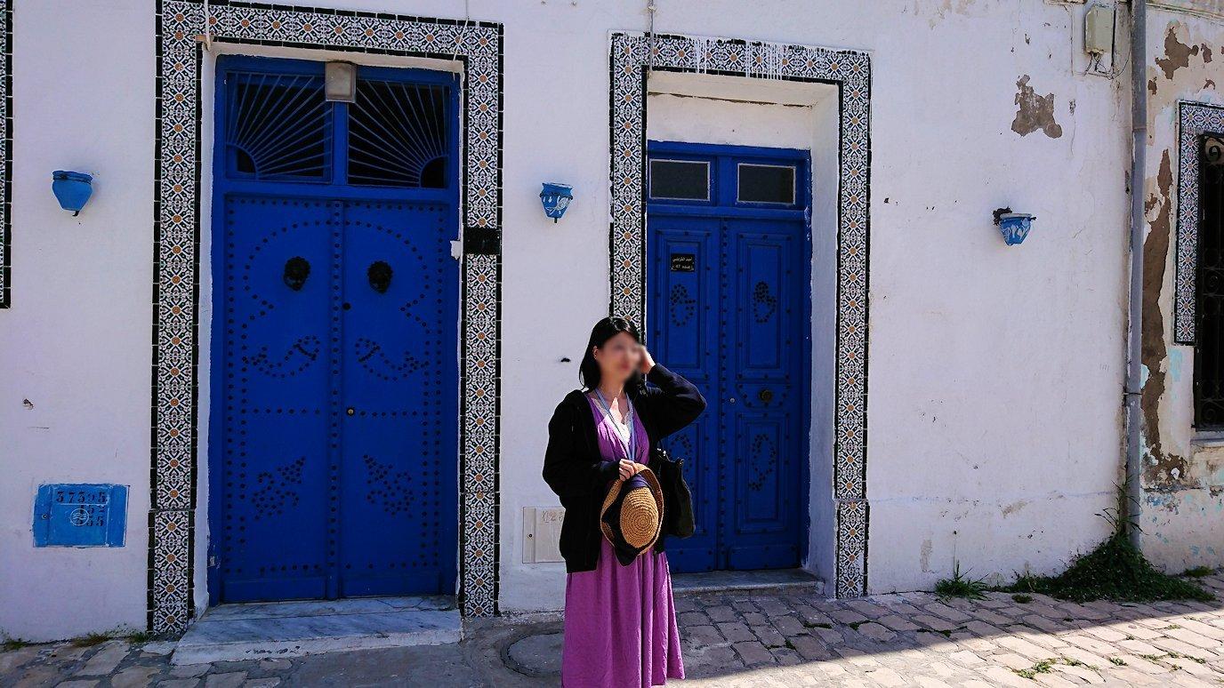 チュニジア:ビゼルトの街で見かけた猫と遊ぶ4