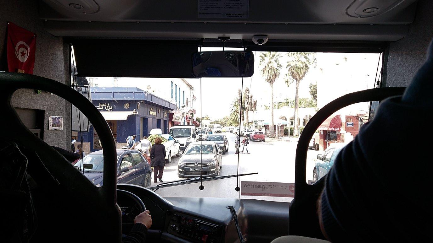 チュニジア:ビゼルトからシディ・ブ・サイドに向かう道中の景色6