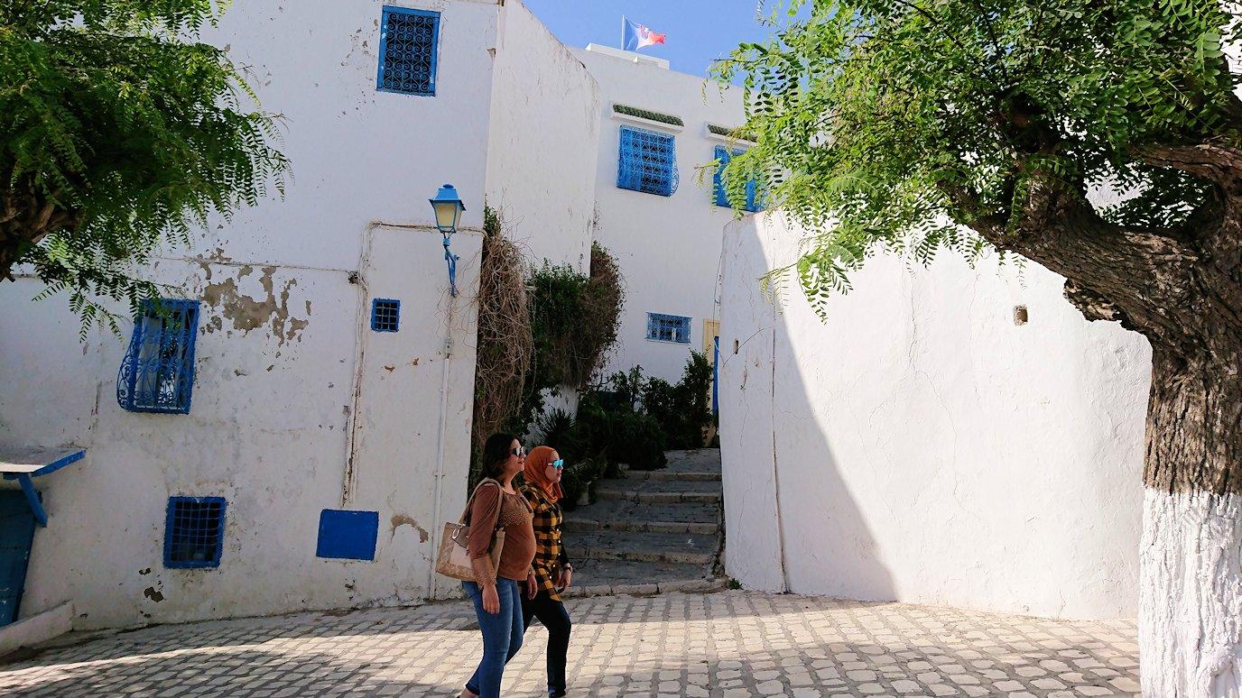 チュニジア:シディ・ブ・サイドの中心へ向かう坂を進む2