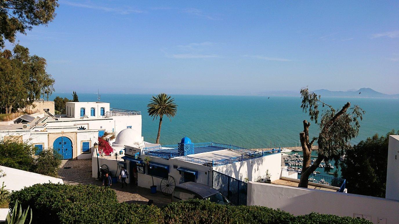 チュニジア:シディ・ブ・サイドの街を進んで絶景ポイントで写真撮影に夢中2