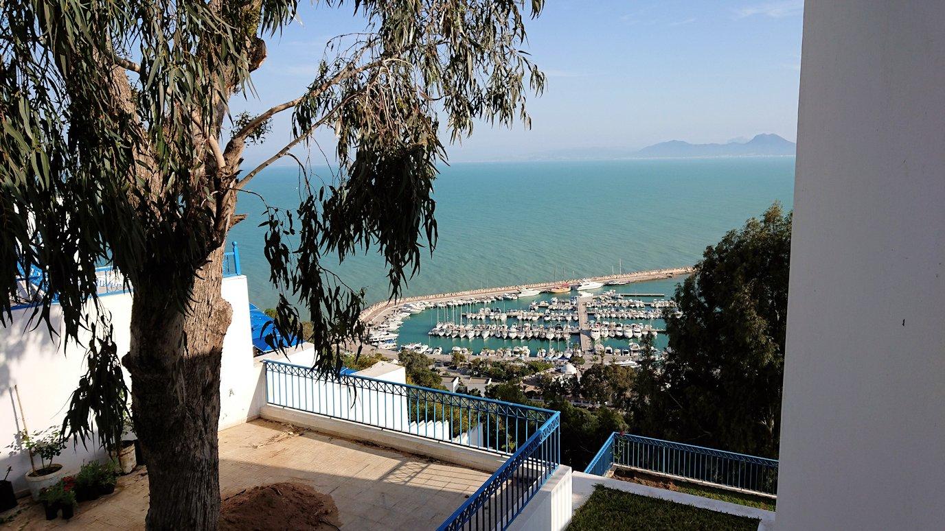 チュニジア:シディ・ブ・サイドの街を進んで絶景ポイントで写真撮影に夢中5