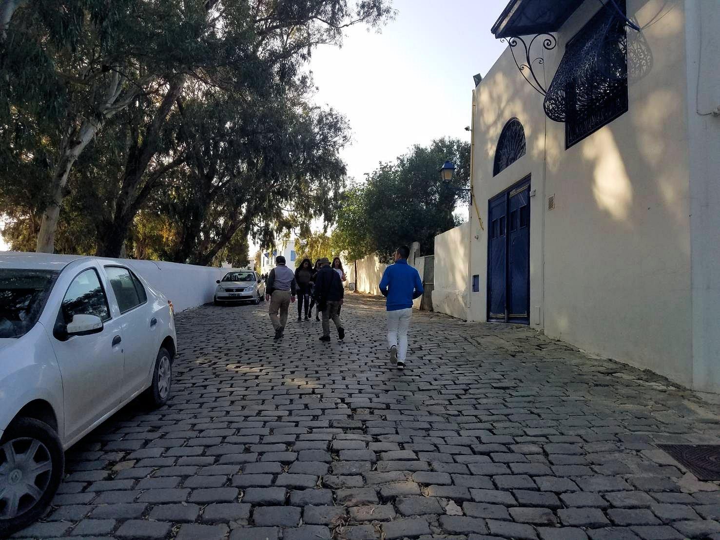 チュニジア:シディ・ブ・サイドの街の次なる絶景ポイントで写真撮影を試みる4