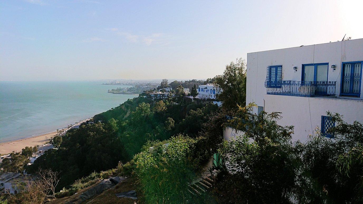 チュニジア:シディ・ブ・サイドで絶景のカフェにて3