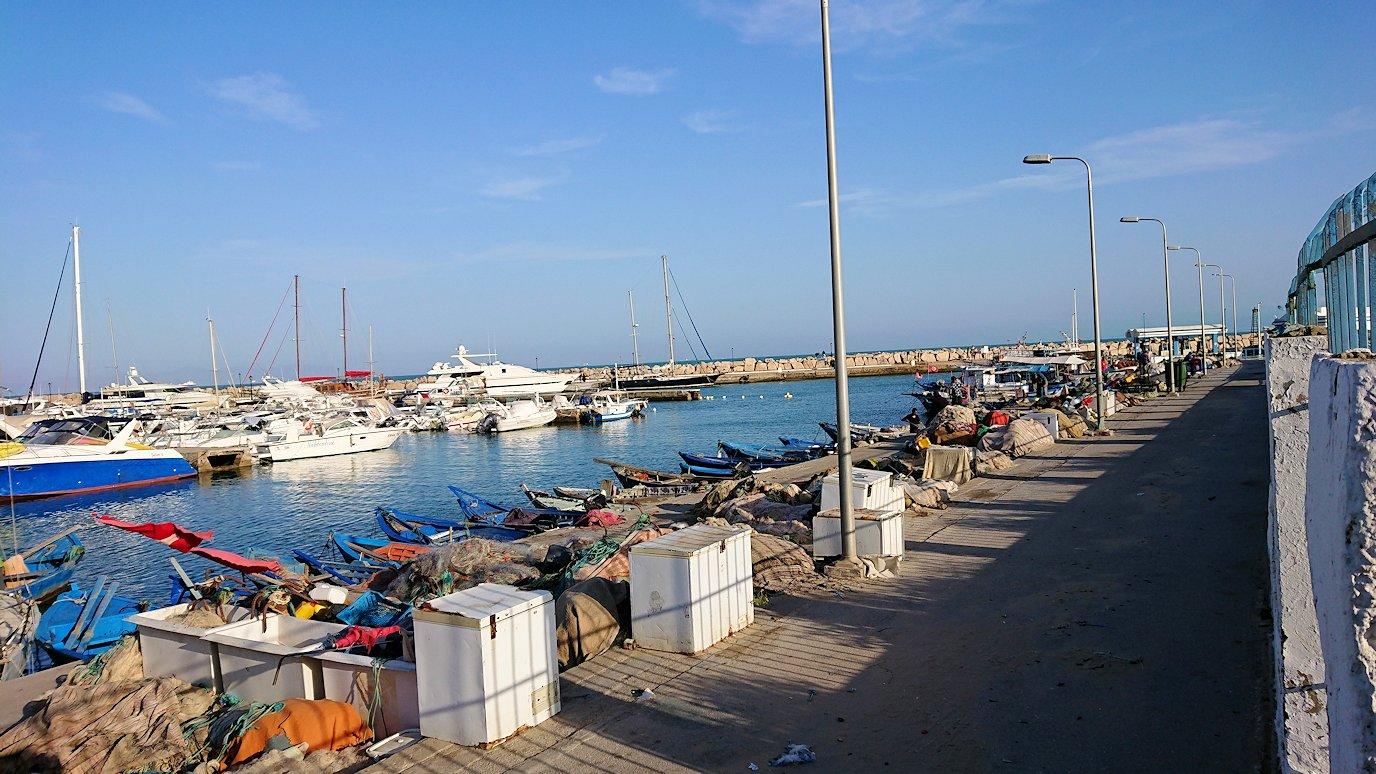 チュニジア:シディ・ブ・サイドで海岸に降りた場所で7