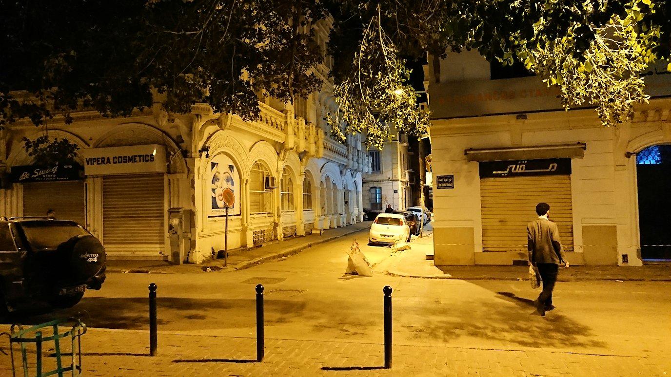 チュニジア:チュニスの夜を散策しスーパーに立ち寄る5