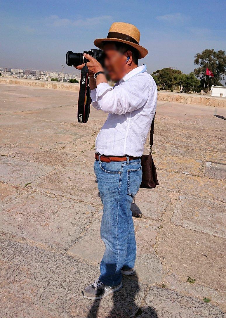 チュニジア:カルタゴ遺跡のビュルサの丘で見学