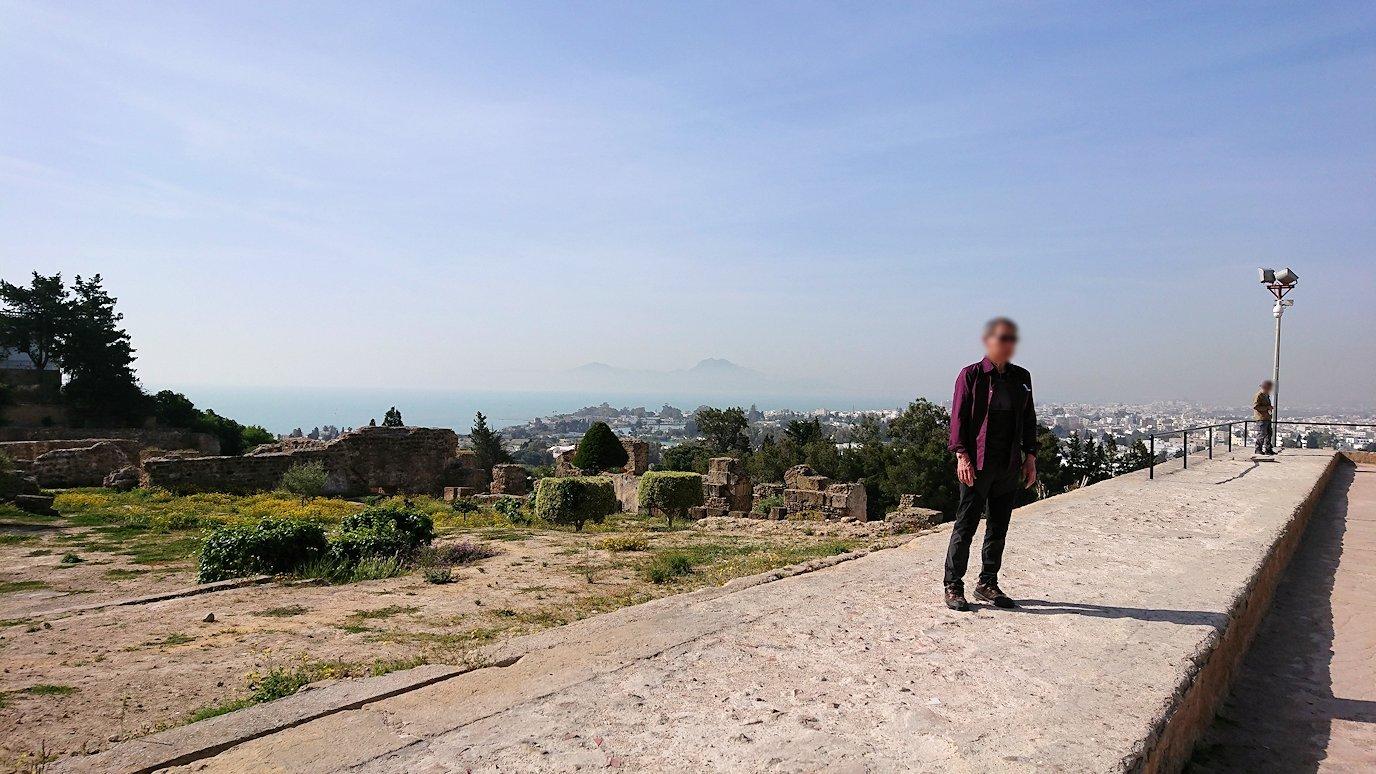 チュニジア:カルタゴ遺跡のビュルサの丘で見学1