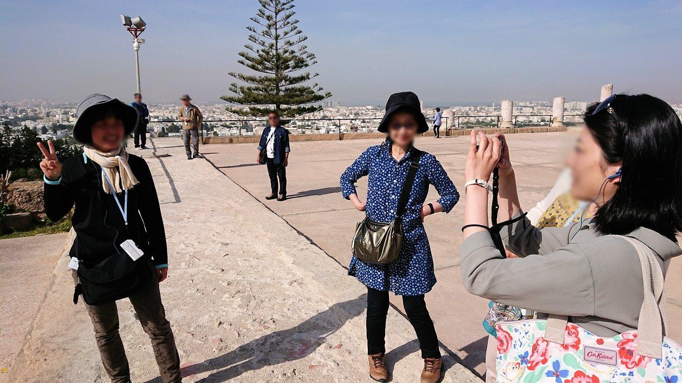 チュニジア:カルタゴ遺跡のビュルサの丘で見学2