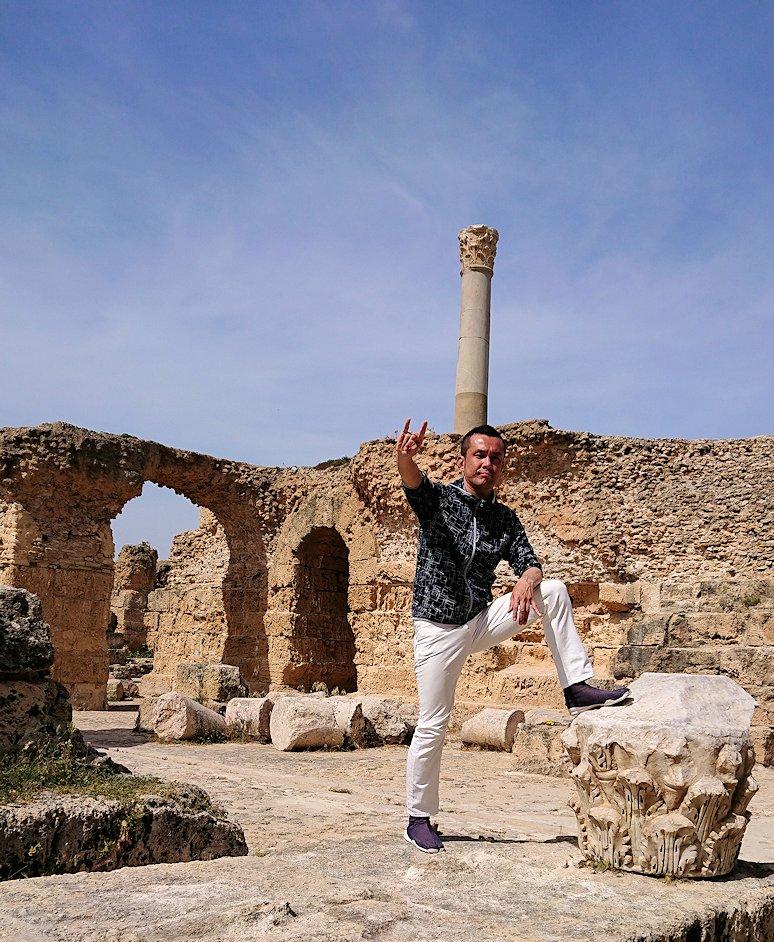 チュニジア:カルタゴ遺跡のアントニヌスの共同浴場内を散策5