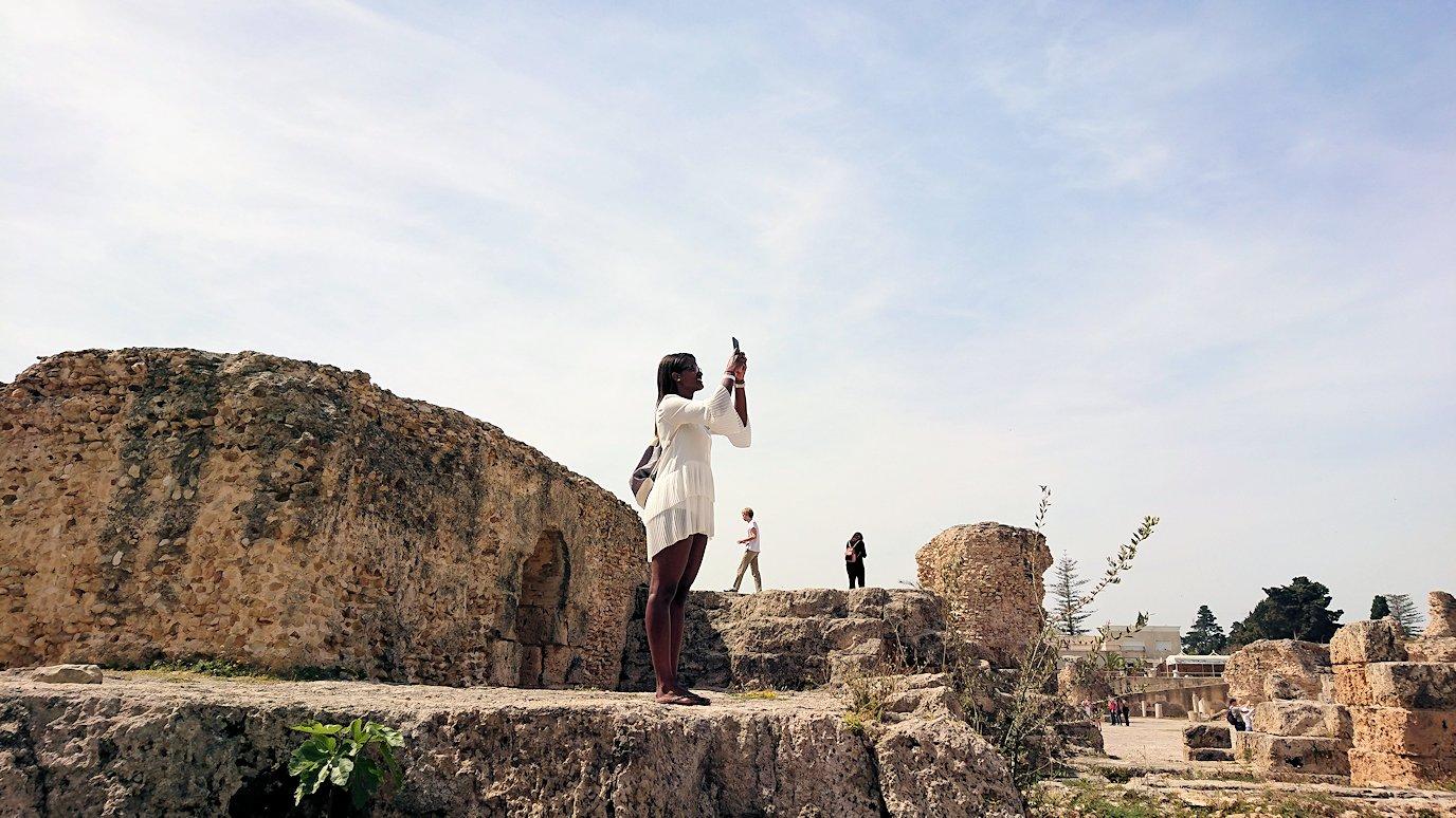 チュニジア:カルタゴ遺跡のアントニヌスの共同浴場内の散策は続く2