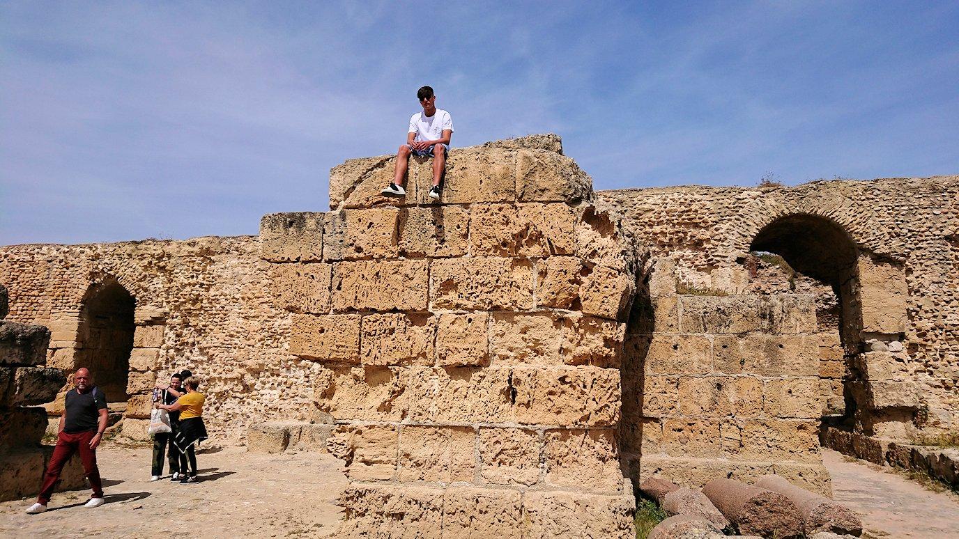 チュニジア:カルタゴ遺跡のアントニヌスの共同浴場内の散策は続く6