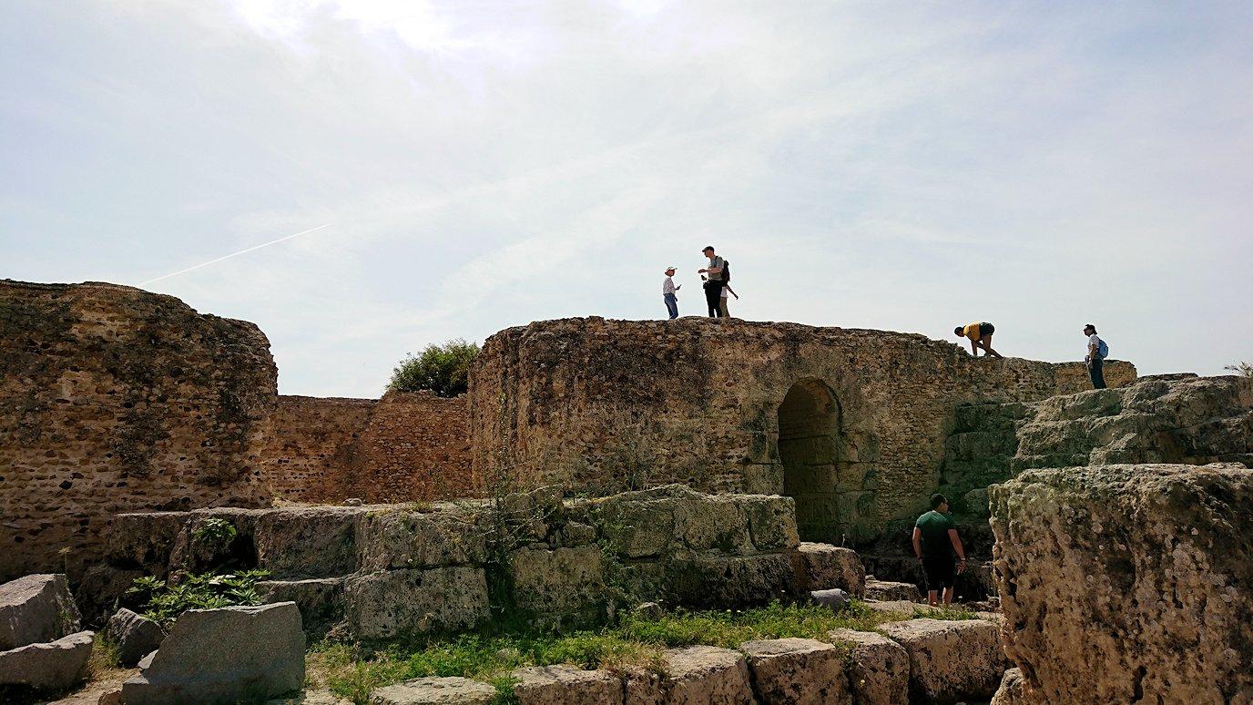 チュニジア:カルタゴ遺跡のアントニヌスの共同浴場内の散策は続く9