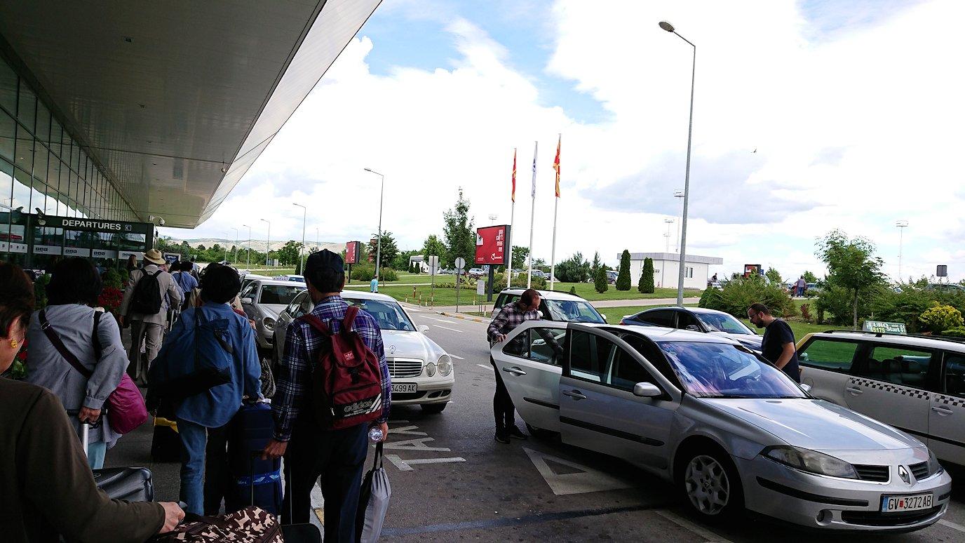 北マケドニアのスコピエ空港に到着7