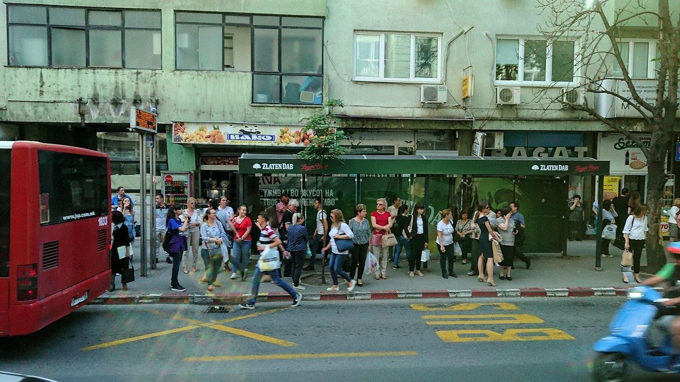 北マケドニアのスコピエ市内からオフリドへバスで移動