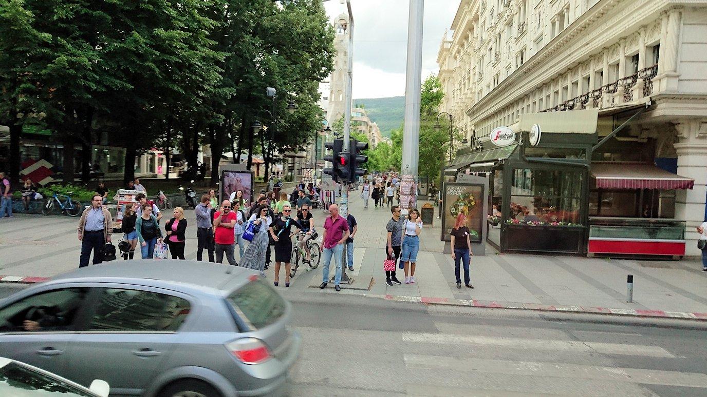 北マケドニアのスコピエ市内からオフリドへバスで移動1