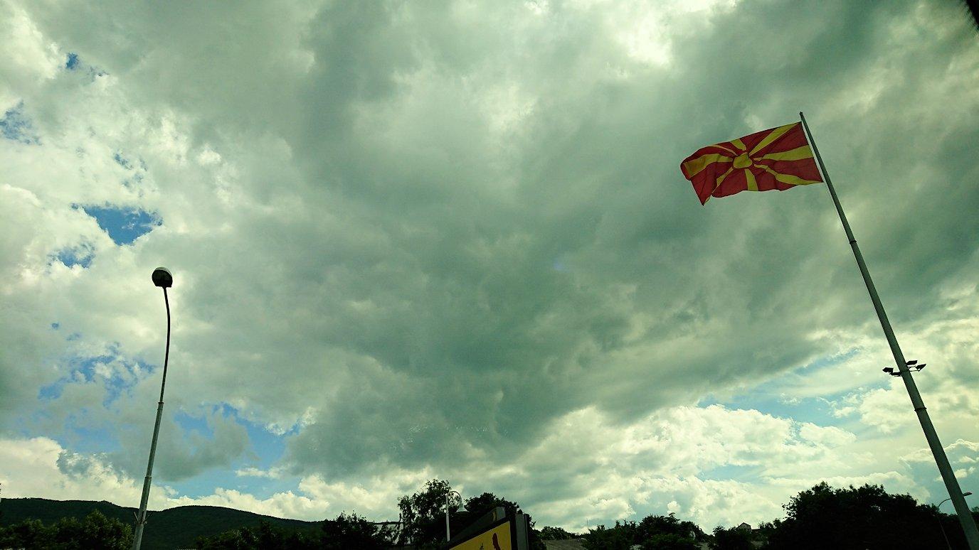 北マケドニアのスコピエ市内からオフリドへバスで移動7