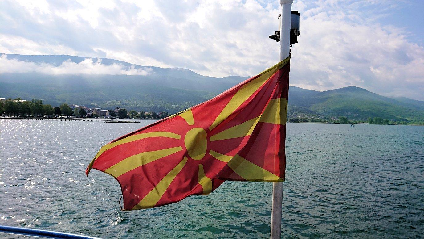 北マケドニアのオフリド湖遊覧終了しオフリドの街に上陸1