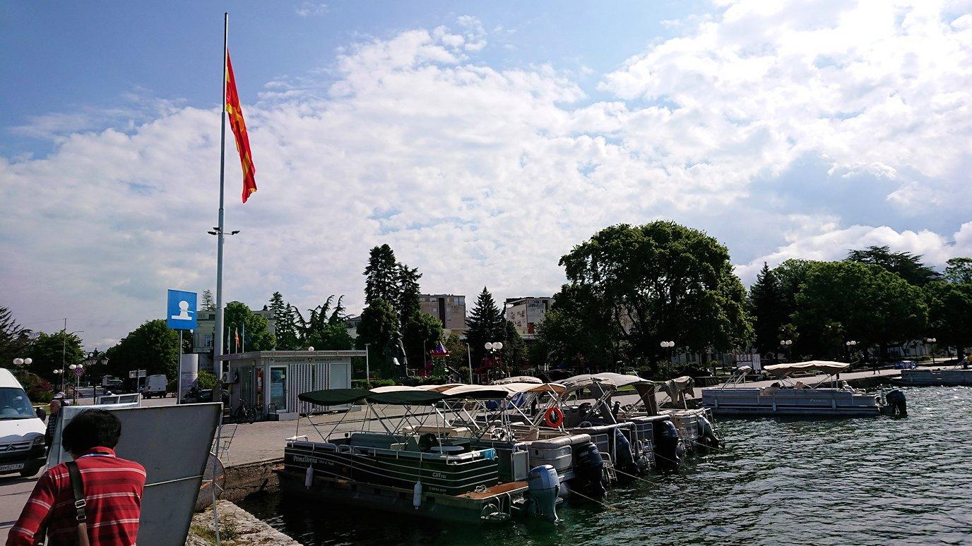 北マケドニアのオフリド湖遊覧終了しオフリドの街に上陸3