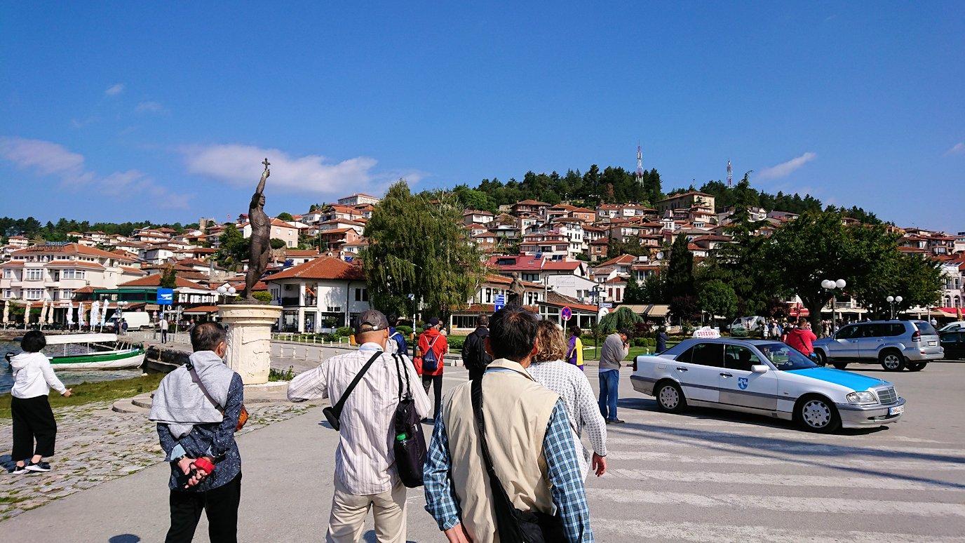 北マケドニアのオフリド湖遊覧終了しオフリドの街に上陸8
