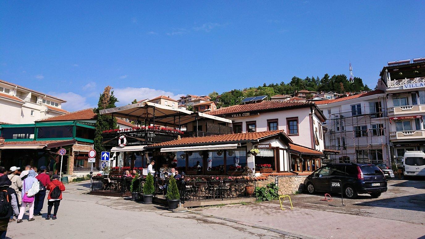 北マケドニアのオフリド湖遊覧終了しオフリドの街を歩いていきます1