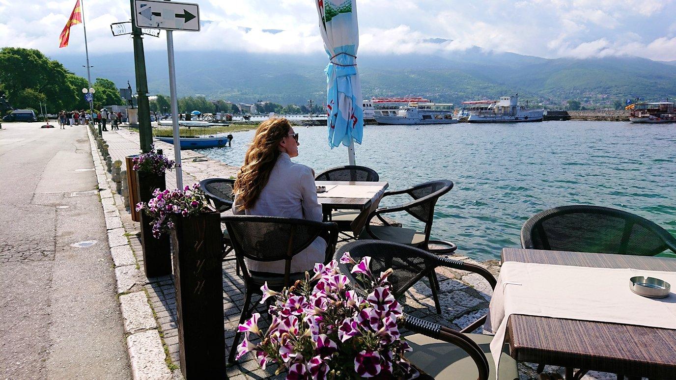 北マケドニアのオフリド湖遊覧終了しオフリドの街を歩いていきます2
