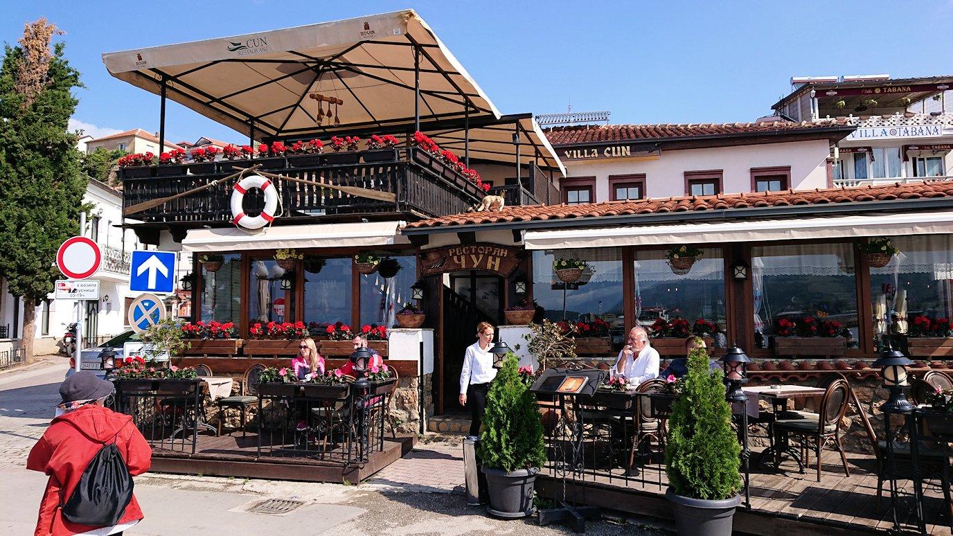 北マケドニアのオフリド湖遊覧終了しオフリドの街を歩いていきます3