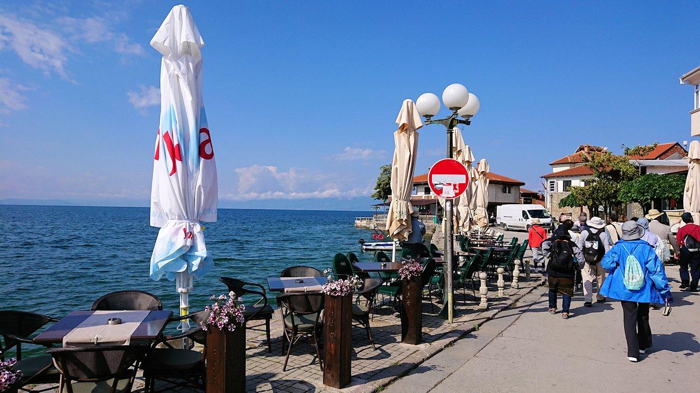 北マケドニアのオフリド湖遊覧終了しオフリドの街を歩いていきます4