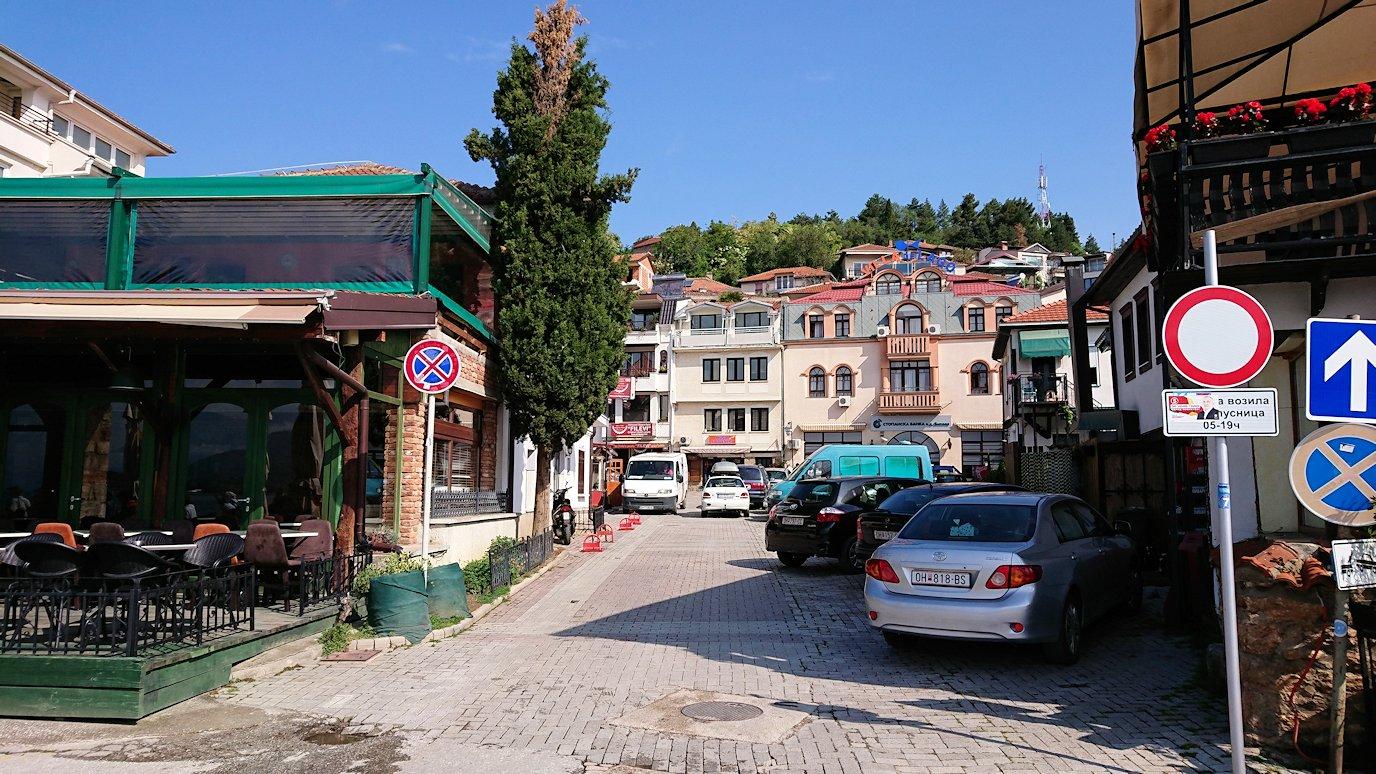 北マケドニアのオフリド湖遊覧終了しオフリドの街を歩いていきます5
