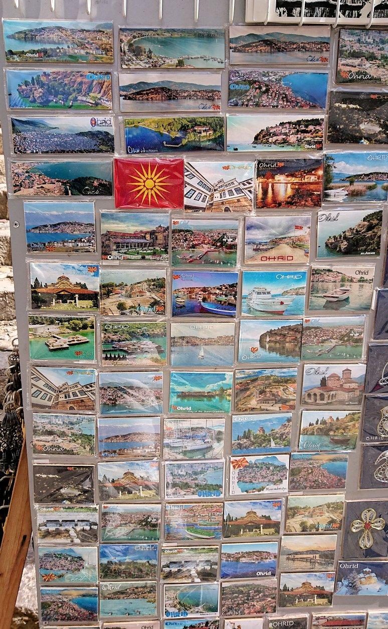 北マケドニアのオフリド湖遊覧終了しオフリドの街を歩いて聖ソフィア教会を目指す3