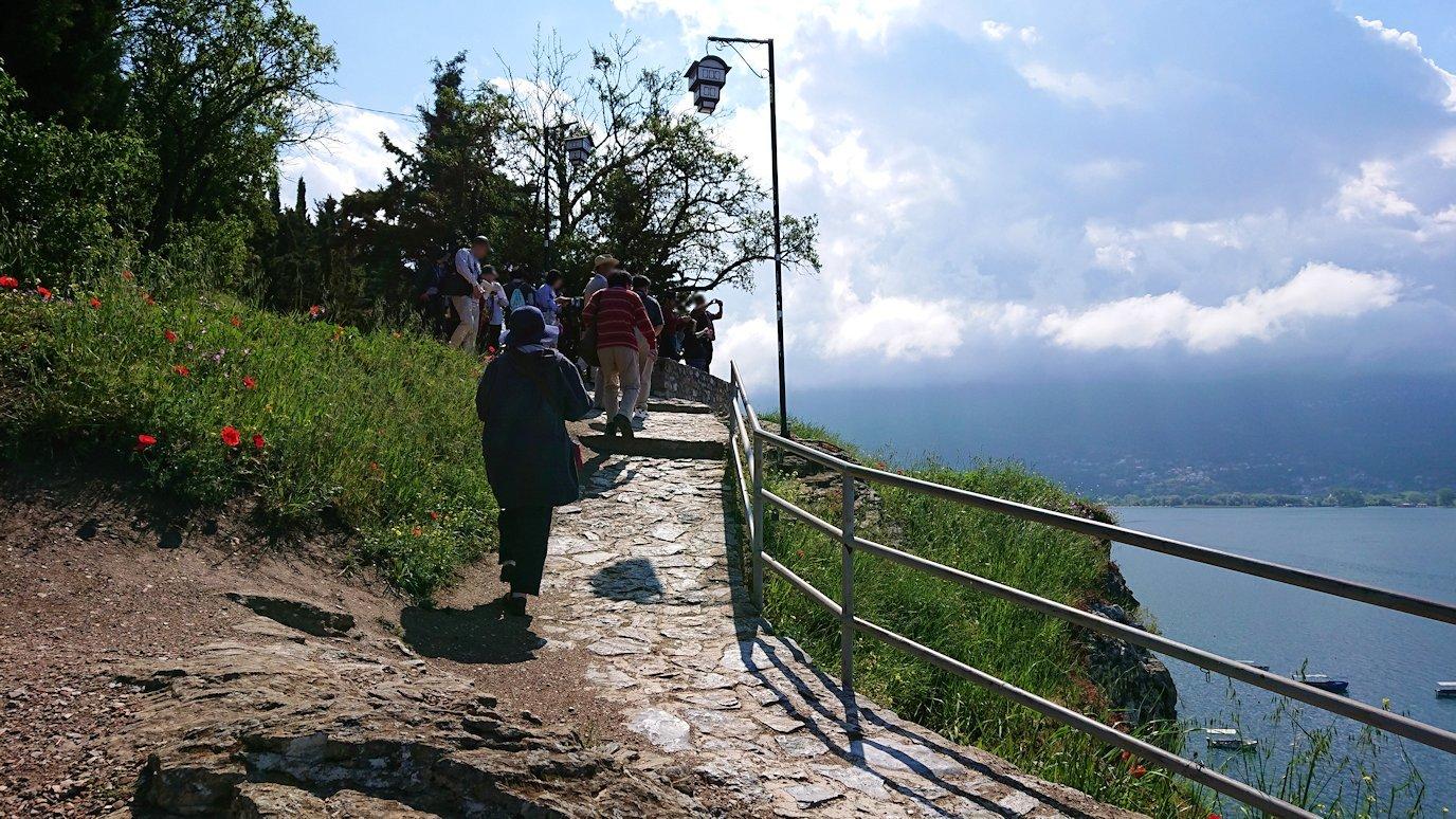 北マケドニアのオフリドで聖ヨハネ・カネオ教会付近を散策9