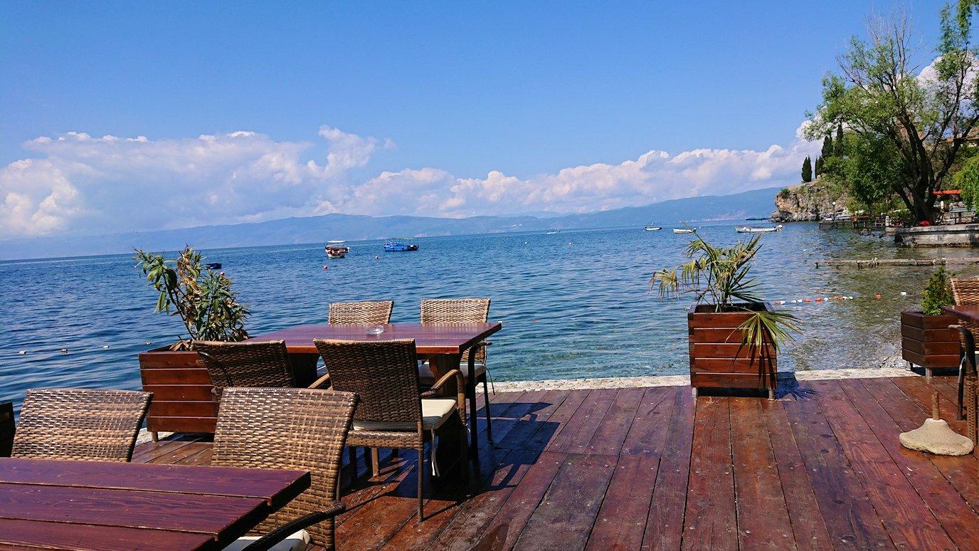 北マケドニアのオフリドで湖岸沿いを進む6