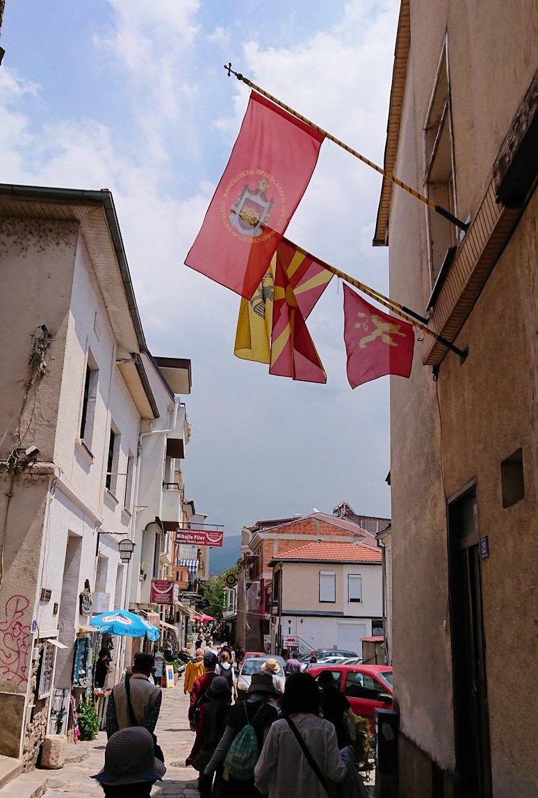 北マケドニアのオフリドで中心街を歩く1