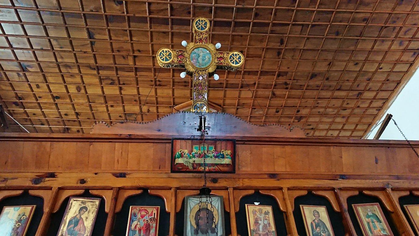 アルバニアで世界遺産のベラトの街でゴリツァ地区にある聖トマス教会を訪問1