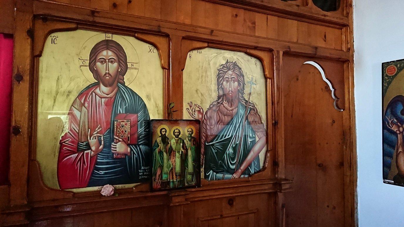アルバニアで世界遺産のベラトの街でゴリツァ地区にある聖トマス教会を訪問2