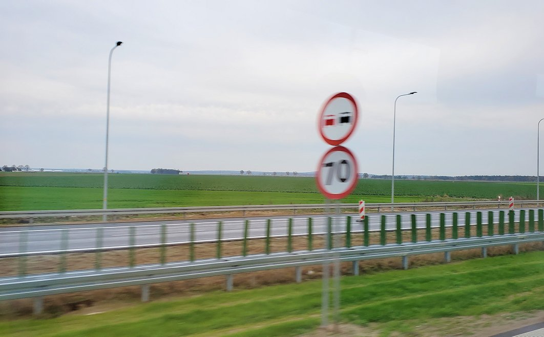 バスでヴロツワフへ向けて移動2