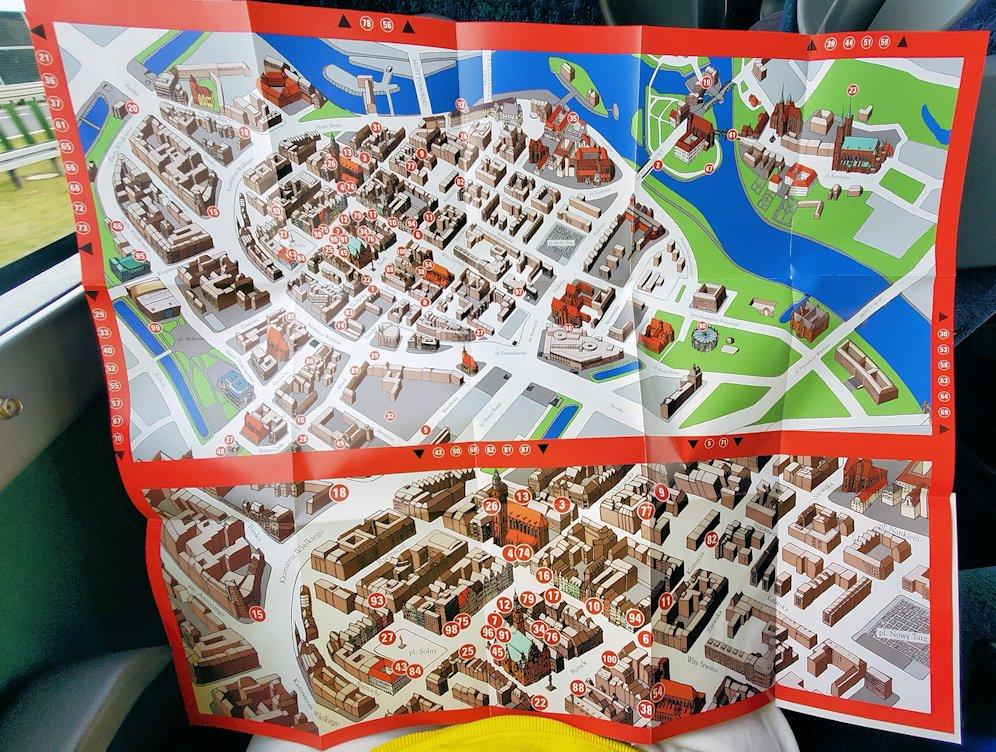 ヴロツワフ名物小人像の地図の表