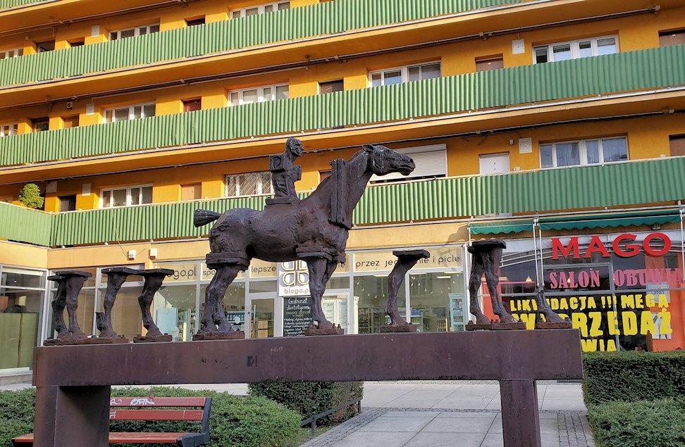 ヴロツワフの街の馬の像